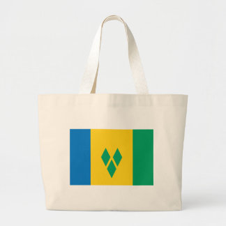 Flag_of_Saint_Vincent_and_the_Grenadines Large Tote Bag