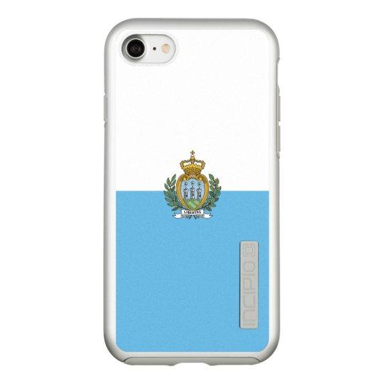 Flag of San Marino Silver iPhone Case
