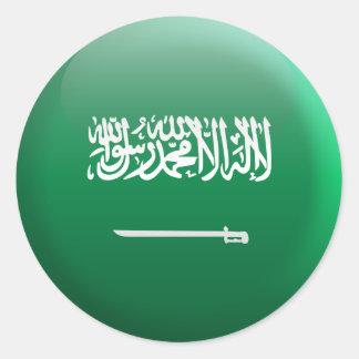 Flag of Saudi Arabia Classic Round Sticker