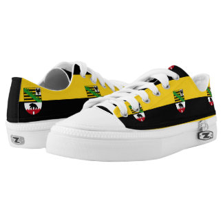 Flag of Saxony-Anhalt Low-Top Sneakers