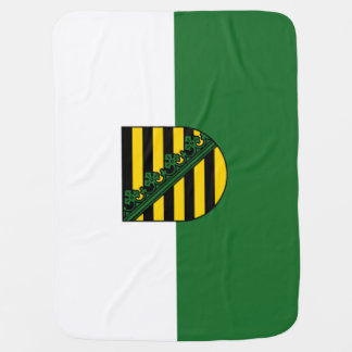Flag of Saxony Baby Blanket