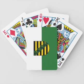 Flag of Saxony Bicycle Playing Cards