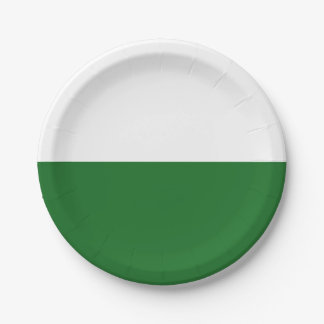 Flag of Saxony Paper Plate