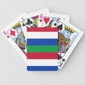 Flag of Schiermonnikoog Bicycle Playing Cards