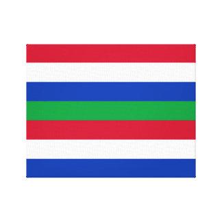 Flag of Schiermonnikoog Canvas Print