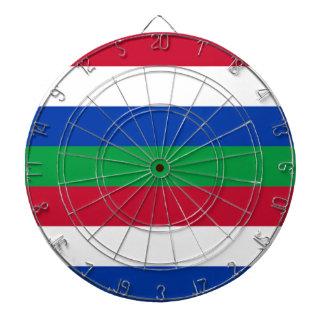 Flag of Schiermonnikoog Dartboard With Darts
