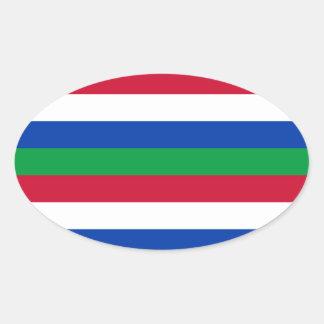 Flag of Schiermonnikoog Oval Sticker