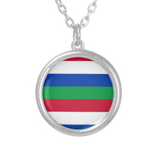 Flag of Schiermonnikoog Silver Plated Necklace