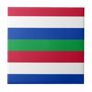 Flag of Schiermonnikoog Tile