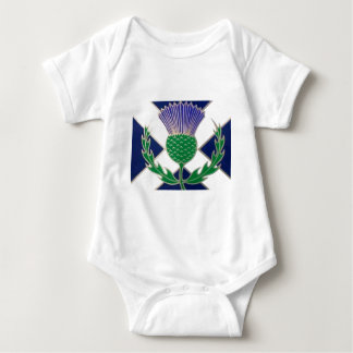 Flag of Scotland and Thistle Baby Bodysuit