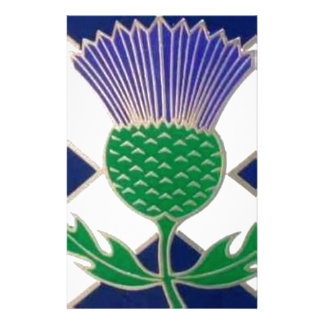 Flag of Scotland and Thistle Customized Stationery