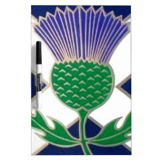 Flag of Scotland and Thistle Dry Erase Whiteboards