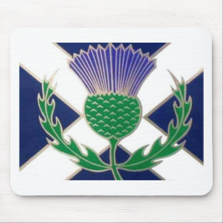 Flag of Scotland and Thistle Mouse Pad