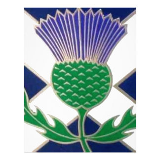 Flag of Scotland and Thistle Personalized Letterhead