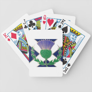 Flag of Scotland and Thistle Poker Deck