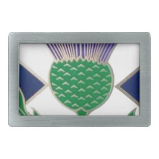 Flag of Scotland and Thistle Rectangular Belt Buckles