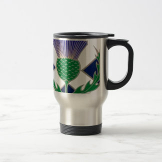 Flag of Scotland and Thistle Travel Mug