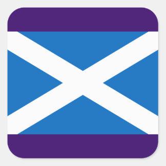 Flag of Scotland - Bratach na h-Alba Square Sticker