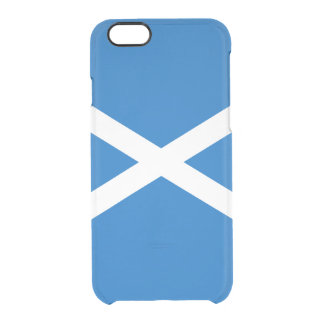 Flag of Scotland Clear iPhone Case
