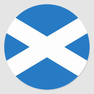 Flag of Scotland or Saltire Classic Round Sticker