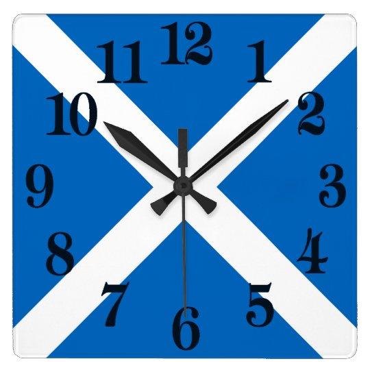 Flag of Scotland or Saltire Clock