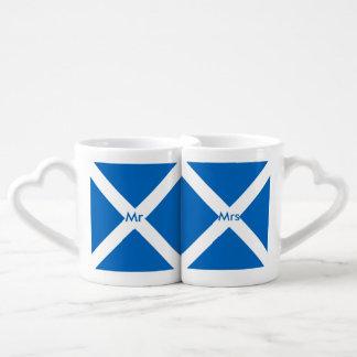 Flag of Scotland or Saltire Coffee Mug Set