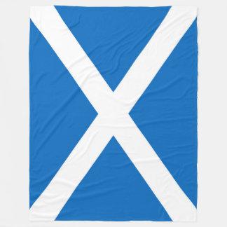 Flag of Scotland or Saltire Fleece Blanket