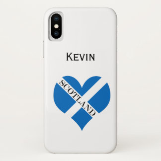 Flag of Scotland or Saltire iPhone X Case