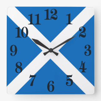 Flag of Scotland or Saltire Square Wall Clock