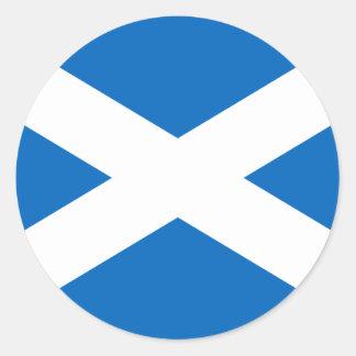 Flag of Scotland - Scottish Flag Round Sticker