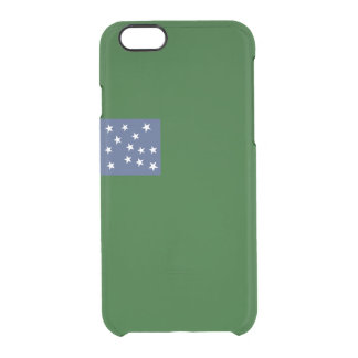 Flag of Second Vermont Clear iPhone Case