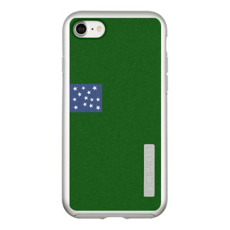 Flag of Second Vermont Silver iPhone Case