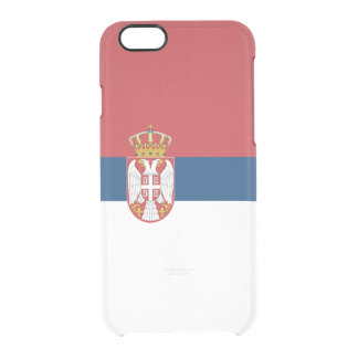Flag of Serbia Clear iPhone Case