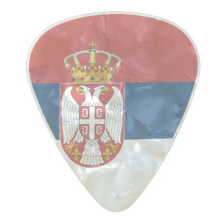 Flag of Serbia Guitar Picks