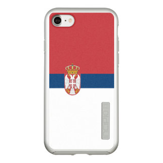 Flag of Serbia Silver iPhone Case