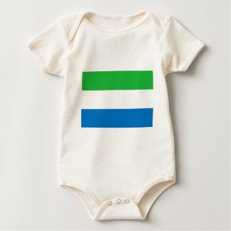 Flag_of_Sierra_Leone Baby Bodysuit