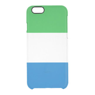 Flag of Sierra Leone Clear iPhone Case