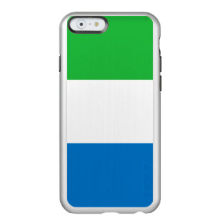 Flag of Sierra Leone Silver iPhone Case Incipio Feather® Shine iPhone 6 Case