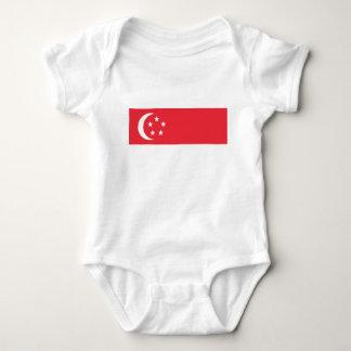 Flag of Singapore -  新加坡国旗 - Bendera Singapura Baby Bodysuit
