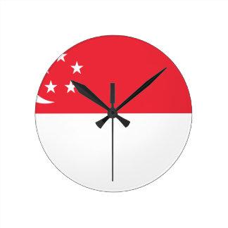 Flag of Singapore -  新加坡国旗 - Bendera Singapura Wallclock