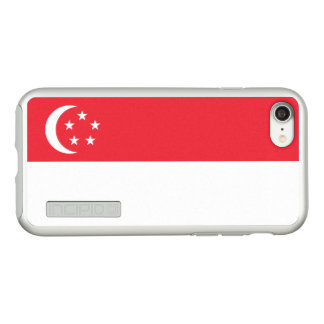 Flag of Singapore Silver iPhone Case