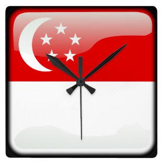 Flag of Singapore Wallclock