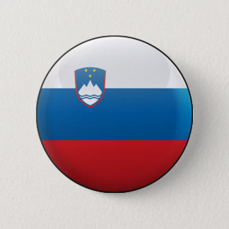 Flag of Slovenia 2 Inch Round Button