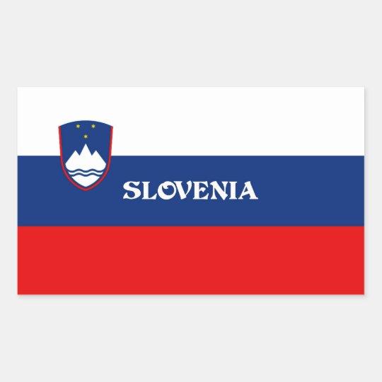 Flag of Slovenia, labelled Sticker