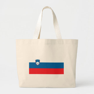 Flag_of_Slovenia Large Tote Bag