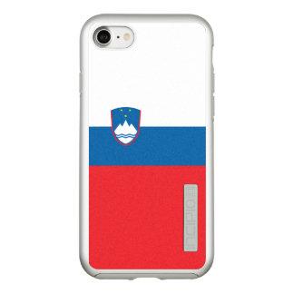 Flag of Slovenia Silver iPhone Case