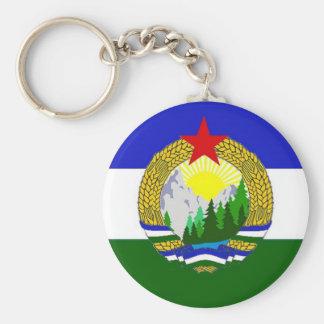 Flag of Socialist Cascadia Basic Round Button Keychain