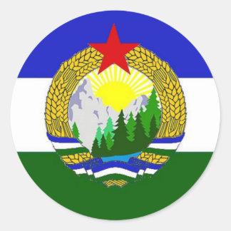 Flag of Socialist Cascadia Classic Round Sticker
