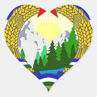 Flag of Socialist Cascadia Heart Sticker