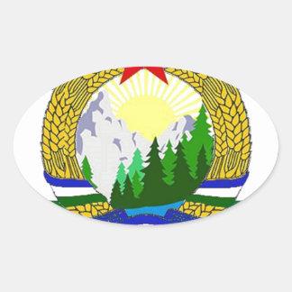 Flag of Socialist Cascadia Oval Sticker
